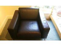 Habitat Days Forum Armchair - Black leather