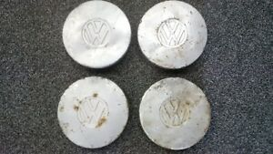 Vintage VW Small Hubcaps Set of 4