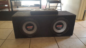 Two 10 inch subwoofers with 1000 what Kenwood amp