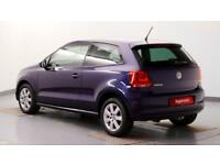 2014 Volkswagen Polo 1.4 85PS Match Edition DSG Petrol blue Automatic