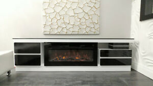 Gloriously contemporary Lacquered High Gloss Fireplace console