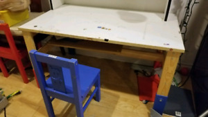 Kids table with chair $15
