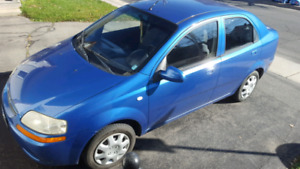 2006 Chevy Aveo Sedan LOW KM, Maintained, Safetied
