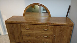 Dresser with Mirror and headboard Queen