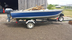 12ft aluminum boat package