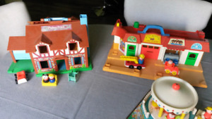 Vintage Fisher Price Play Sets $35 each