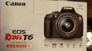 Canon Rebel T6 Camera Kit with EF-S 18-55mm f/3.5-5.6 IS II Lens
