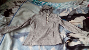 New Grey Hooded Top