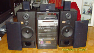 PIONER STEREO COMPLETE HOME THEATER SURROUND SYSTEM $250
