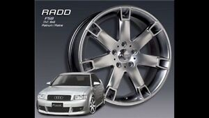 Mags RADD VW/AUDI 18x8 5x112 with 4 x 225/40/R18 Tires