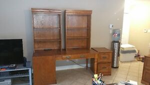 Huge shelf unit with 2 book cases