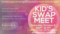 Kids Swap Meet Tables available now!