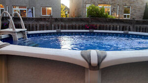 15 foot Round Reflexions Aqua Leader Pool with 125K Heater