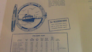 Canadian Pacific Princess Steamers Luncheon Menu Kitchener / Waterloo Kitchener Area image 3