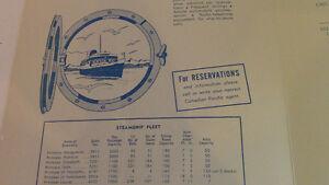 Canadian Pacific Princess Steamers Luncheon Menu Kitchener / Waterloo Kitchener Area image 3