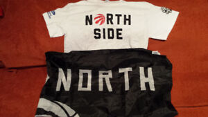 Toronto Raptors NORTH SIDE shirt and WE THE NORTH FLAG