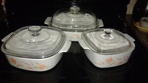 Baking dishes/Corningware/pyrex mixing bowls