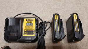DeWalt 20-Volt Max Lithium-Ion 2 Battery and Charger.