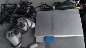 Playstation ps2 slim silver