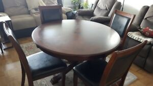 Round Dining Table and 4 Chairs - furniture from The Brick