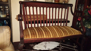 Antique Bench with matching chair and Rocker