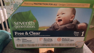 Diaper - size 1 (68 diapers) Seventh Generation