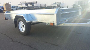 5'x8' Multi-Functional Salter Galvanized Utility Trailer on SALE