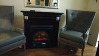 Dark cherry wood fireplace paid $700 must sell moving $250!!