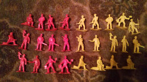 Set of Toy Soldier Firemen