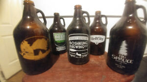 64oz glass beer jugs. For the right collector out there.