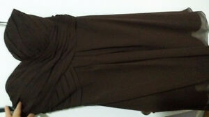 Espresso Sweetheart Strapless Bridesmaid Dress Size 6 Kitchener / Waterloo Kitchener Area image 2