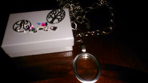 South Hills Design locket, charms and fancy chain