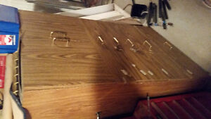 """5 full extension drawers & 2 Door parts Cabinet On wheels.43"""" wi Kitchener / Waterloo Kitchener Area image 1"""