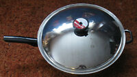 """WOK 14""""  Surgical Stainless Steel, lid & sensi-tone button, 5ply"""