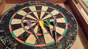 Red Lion Dart Board and Cabinet Kitchener / Waterloo Kitchener Area image 3