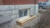 Window Wells, Water, Drainage, Grading, Restoration, Yard Work