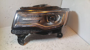 GRAND CHEROKEE 2014 2015 LUMIERE GAUCHE OEM LEFT HEAD LIGHT LAMP
