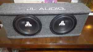 "JL Audio DUAL 10"" subwoofer enclosure 1200 watts total max watts"