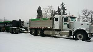 2015 Peterbilt and 2008 Capital Quad (Gravel Truck)