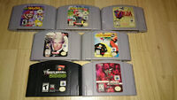 Assorted N64 games for sale