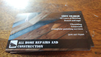 ALL HOME REPAIRS AND CONSTRUCTION
