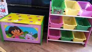 Dora toy box and storage containers