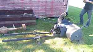 Snow blower for lawn tractor.