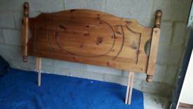 Solid pine double headboard