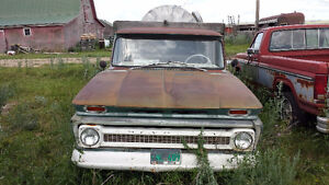Chevrolet c30 1964 flat bed truck with hoist