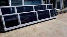 Louvre - 560h x 3000w Clear Anodised Louvre Window w/ Grey Tint Loganholme Logan Area Preview