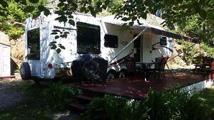 fifthwheel sur magnifique site du camping Domaine héritage