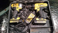dewalt kit drill + impact 20v