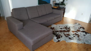 L shape couch - sofa bed
