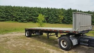 2000 WABASH TRAILER AIR RIDE 29 FT FLAT BED